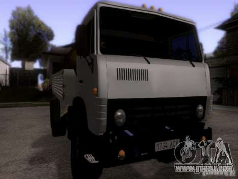 KAMAZ 53212 milk tanker for GTA San Andreas right view