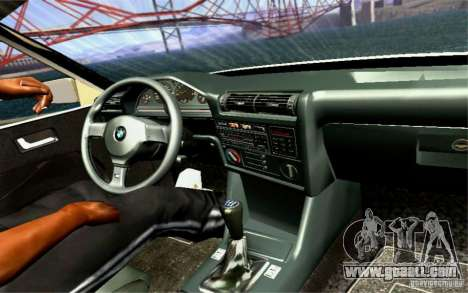 BMW E30 M3 Cabrio for GTA San Andreas upper view