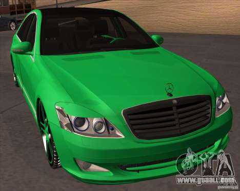 Mercedes Benz S600 Panorama by ALM6RFY for GTA San Andreas back view