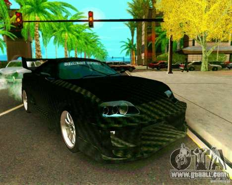 Toyota Supra Carbon for GTA San Andreas right view
