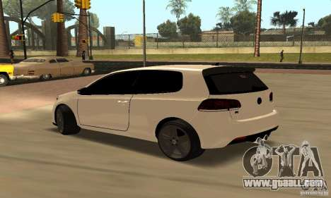 Volkswagen Golf R Modifiye for GTA San Andreas right view