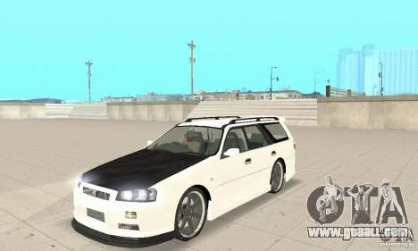 Nissan Stagea GTR for GTA San Andreas back left view