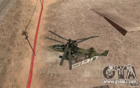 Ka-52 Alligator for GTA San Andreas back view