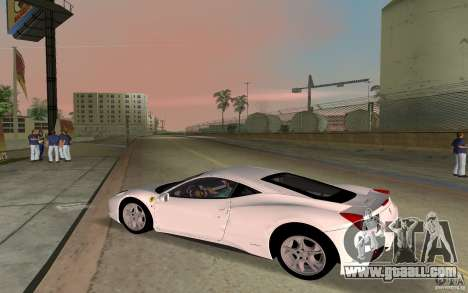 Ferrari 458 Italia for GTA Vice City back left view