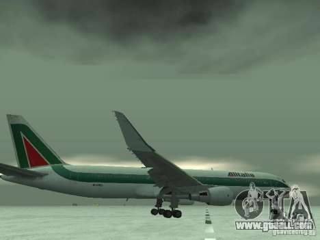 Boeing 767-300 Alitalia for GTA San Andreas bottom view