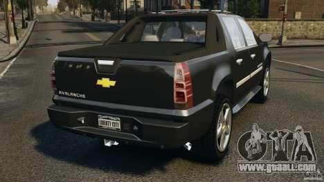 Chevrolet Avalanche Stock [Beta] for GTA 4 back left view