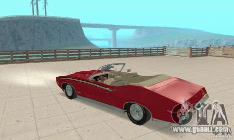Pontiac GTO The Judge Cabriolet for GTA San Andreas back view