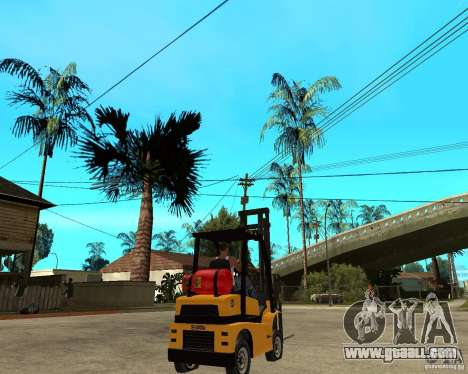 Forklift GTAIV for GTA San Andreas back left view