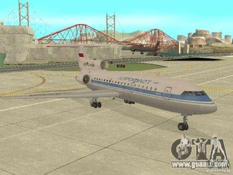 Yak-42 Aeroflot for GTA San Andreas