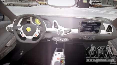 Ferrari 458 Italia - Brazilian Police [ELS] for GTA 4 back view
