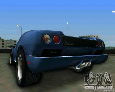 Lamborghini Diablo for GTA Vice City back view
