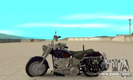 Harley Davidson FLSTF (Fat Boy) v2.0 Skin 4 for GTA San Andreas