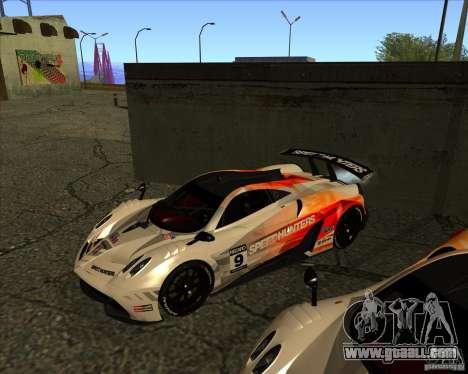 Pagani Huayra SHE for GTA San Andreas inner view