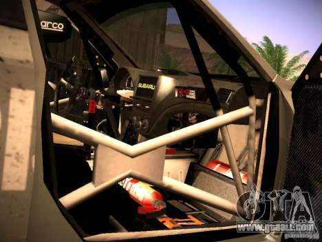 Subaru Impreza Gravel Rally for GTA San Andreas upper view
