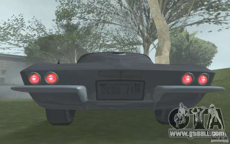 Chevrolet Corvette 427 for GTA San Andreas back view
