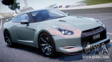 Nissan GT-R R35 2010 v1.3 for GTA 4 upper view
