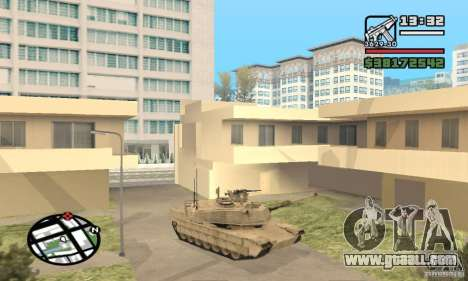 M1A2 Abrams TUSK for GTA San Andreas left view