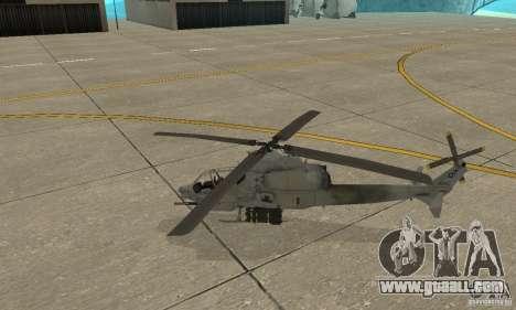 Hunter - AH-1Z Cobra for GTA San Andreas left view