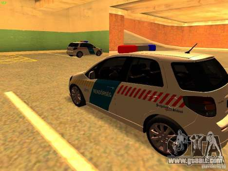 Suzuki SX-4 Hungary Police for GTA San Andreas back left view