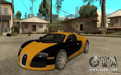 Bugatti Veyron v1.0 for GTA San Andreas