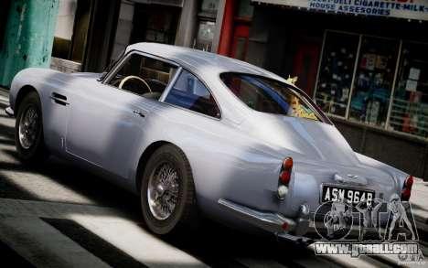 Aston Martin DB5 1964 for GTA 4 back left view
