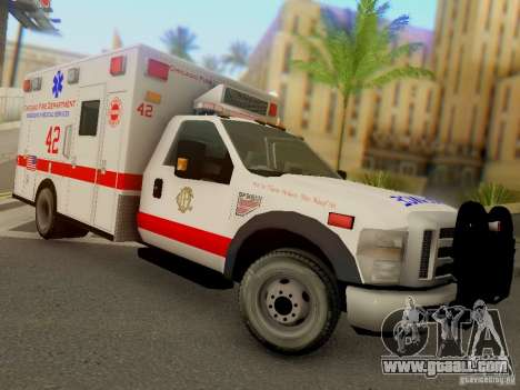 Ford F350 Super Duty Chicago Fire Department EMS for GTA San Andreas back view
