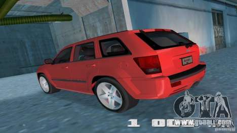 Jeep Grand Cherokee for GTA Vice City right view