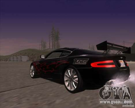 Aston Martin DB9 tunable for GTA San Andreas side view