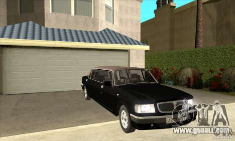 GAZ 3110 Sedan for GTA San Andreas back view