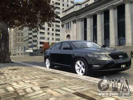 Ford Taurus FBI 2012 for GTA 4 side view