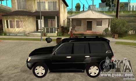 Toyota Land Cruiser 100vx v2.1 for GTA San Andreas back left view