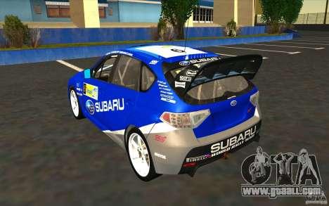 New vinyls to Subaru Impreza WRX STi for GTA San Andreas wheels