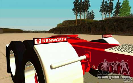 Kenworth K100 Extended Wheel Base for GTA San Andreas side view