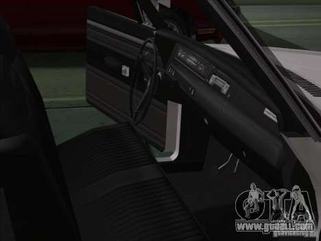 Plymouth Roadrunner 440 for GTA San Andreas inner view