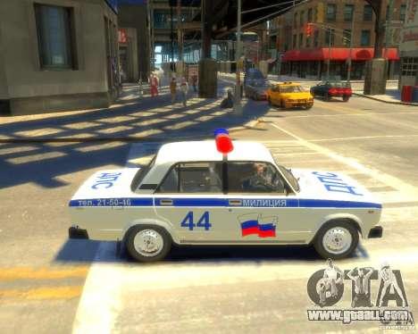 Vaz-2105 police for GTA 4 left view