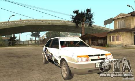 VAZ 2108 Tuned for GTA San Andreas back view