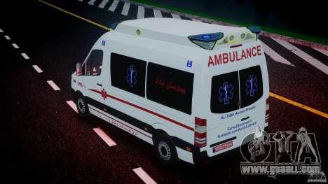 Mercedes-Benz Sprinter Iranian Ambulance [ELS] for GTA 4 interior
