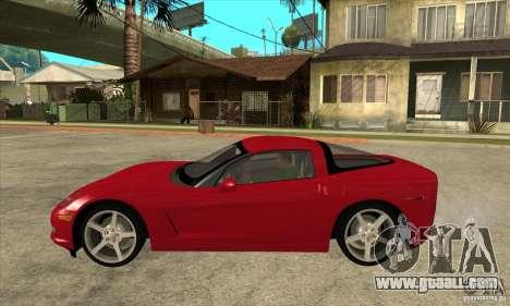 Chevrolet Corvette C6 Z51 - Stock for GTA San Andreas left view
