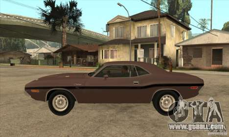 Dodge Challenger R/T Hemi 426 for GTA San Andreas left view