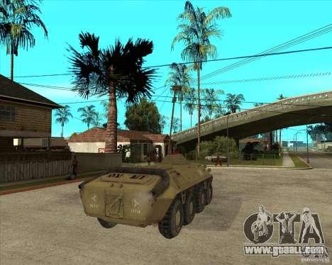The APC from s. t. a. l. k. e. R for GTA San Andreas back left view