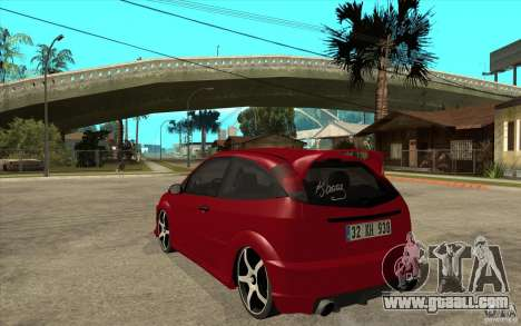 Ford Focus Coupe Tuning for GTA San Andreas back left view