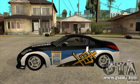 Nissan 350z Stock - Tunable for GTA San Andreas right view