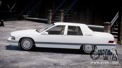Buick Roadmaster Sedan 1996 v1.0 for GTA 4 back left view