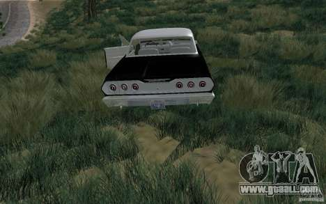 Chevrolet Impala 4 Door Hardtop 1963 for GTA San Andreas right view