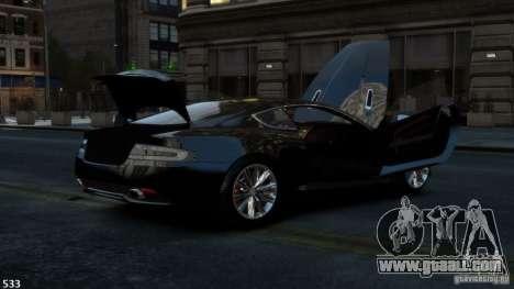 Aston Martin Virage 2012 v1.0 for GTA 4 back view