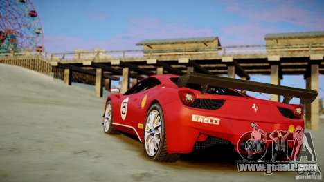 Ferrari 458 Challenge 2011 for GTA 4 left view