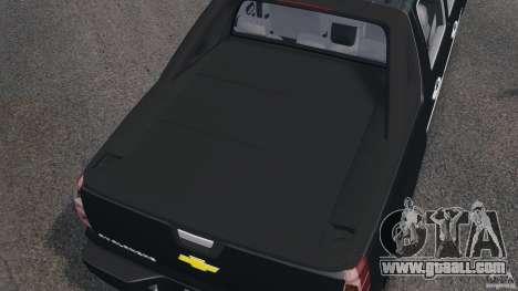 Chevrolet Avalanche Stock [Beta] for GTA 4 upper view