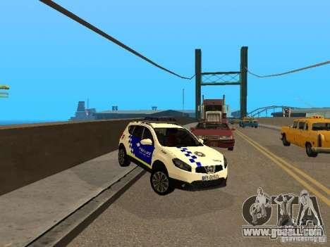 Nissan Qashqai Espaqna Police for GTA San Andreas