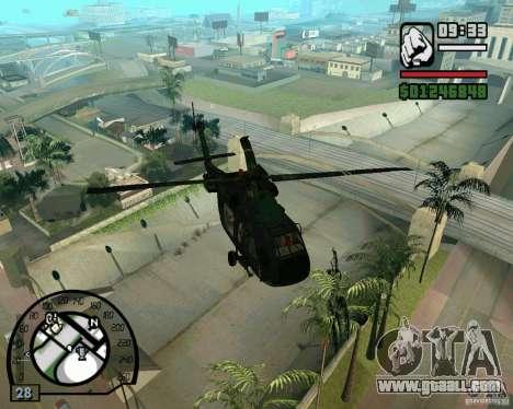Blackhawk UH60 Heli for GTA San Andreas right view