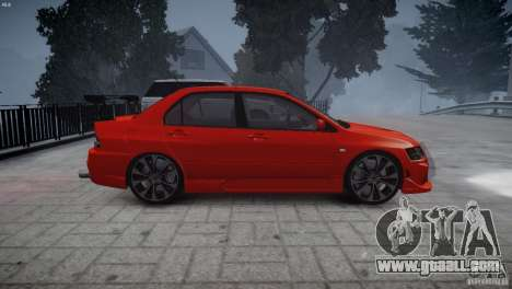 Mitsubishi Lancer Evolution 8 v2.0 for GTA 4 right view